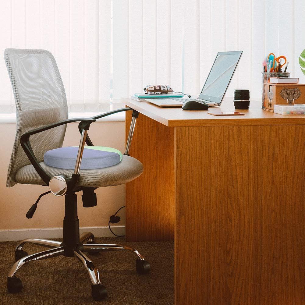 coccige e sciatica grigio verde, 40 x 40 x 4,5 cm per dolori lombari Joy.Box uso domestico e auto in schiuma di memoria per rilassare yoga e meditazione Cuscino rotondo per sedia da ufficio