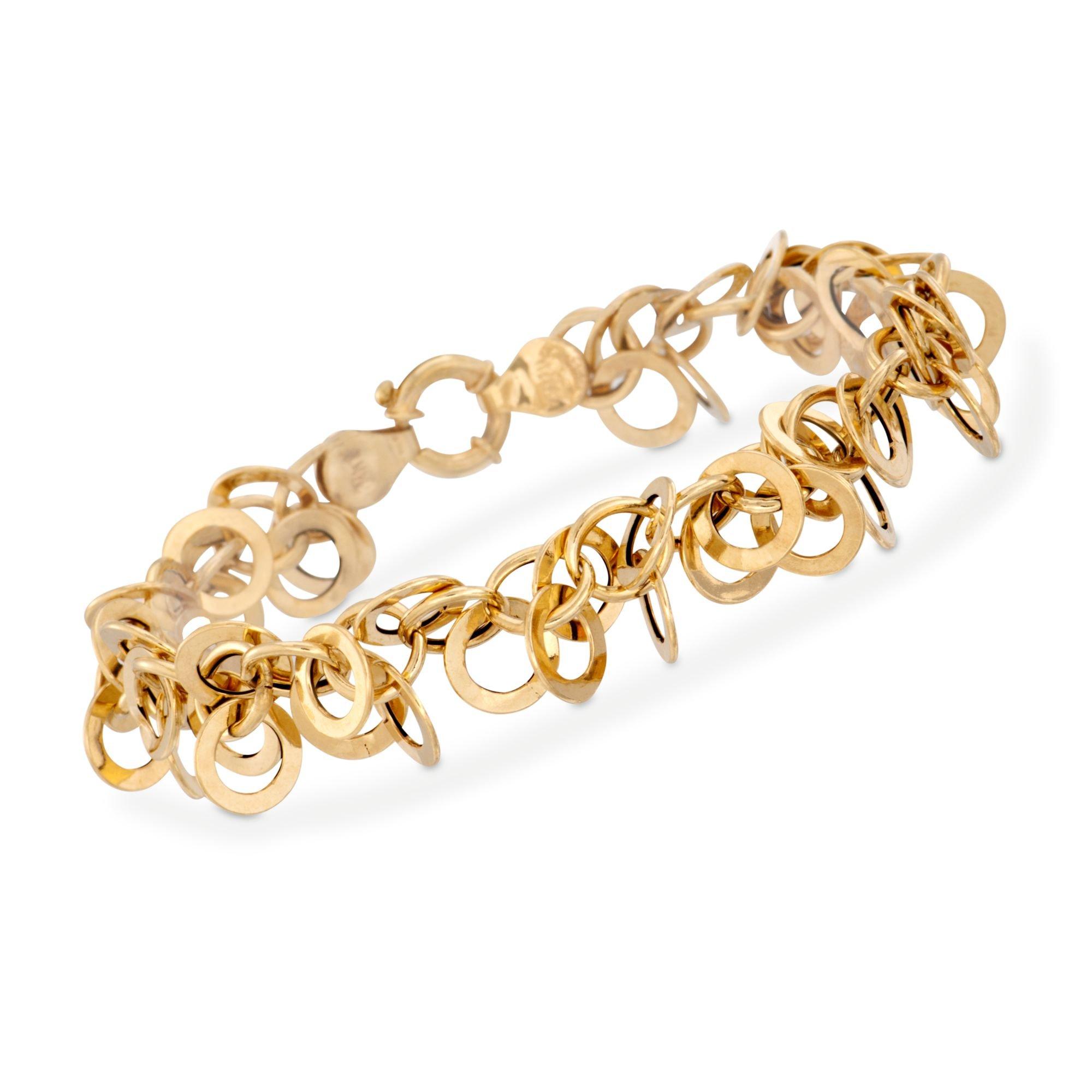 Ross-Simons Italian 14kt Yellow Gold Multi-Circle Link Bracelet