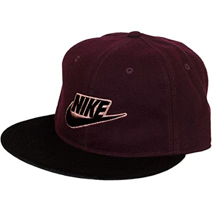 Nike Rose Futura True Gorra, Mujer, Burdeos (Night Maroon/Black/mtlc