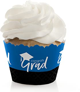 product image for Blue Grad - Best is Yet to Come - Royal Blue Graduation Party Decorations - Party Cupcake Wrappers - Set of 12