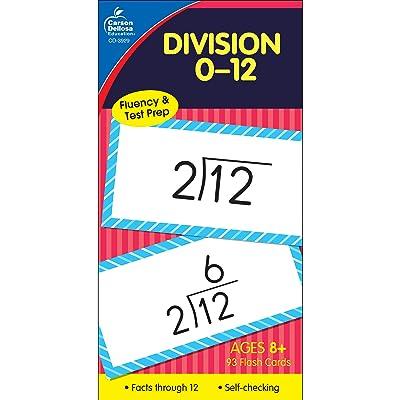Carson Dellosa | Division 0–12 Flash Cards | Ages 8+, 93ct: Carson-Dellosa Publishing: Office Products
