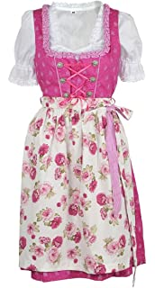 Ramona Lippert Dirndl Rose Trachtenkleid Damendirndl 3-teilig