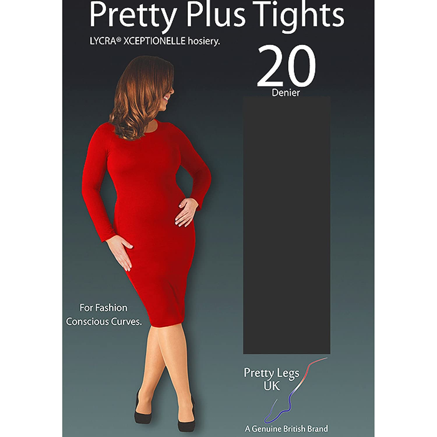 0d968760cacfc Pretty Legs Pretty Plus Xceptionelle 20 Denier Tights with Lycra (XX-Large  (54