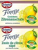 Dr. Oetker Finesse Geriebene Zitronenschale, (2 x 6 g)