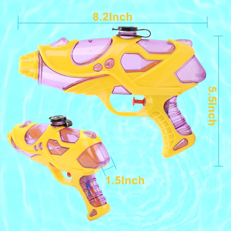 Pistola de Agua Peque/ña,Super Pistola Power para Al Aire Libre 2 Pack Pistola de Agua para Ni/ños Adultos Playa,Juguete de Lucha de Agua Fiesta Piscina EKKONG Pistola de Agua 2pcs
