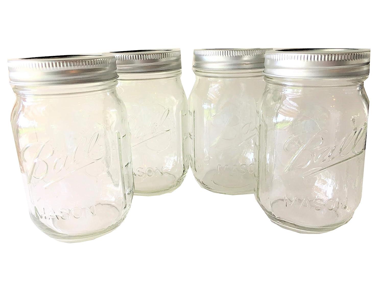 Ball Mason Jar-16 oz. Clear Glass Heritage Series - Set of 4