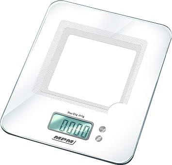 MPM Balanza De Cocina Electrónica de precisión Con Pantalla LCD Hasta 8.0Kg, MWK-