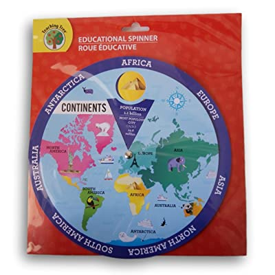 Teaching Tree Educational Spinner - Continents: Toys & Games