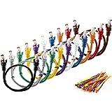 """MutecPower MultiKable - CAT5E Netzwerk Ethernet -Patch-Kabel [ 0.5M ] UTP - mit 2x RJ45 Stecker Set """"10 Stück, 10 Farben """" (100 Kabelbinder in der Packung enthalten) 0.5 meter"""