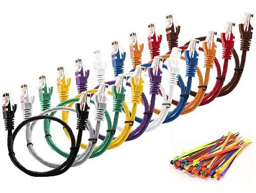 78 opinioni per MultiCables 5m Ethernet Cat5E CAVO DI RETE UTP con spina RJ45 Per PC, LAN,- 5
