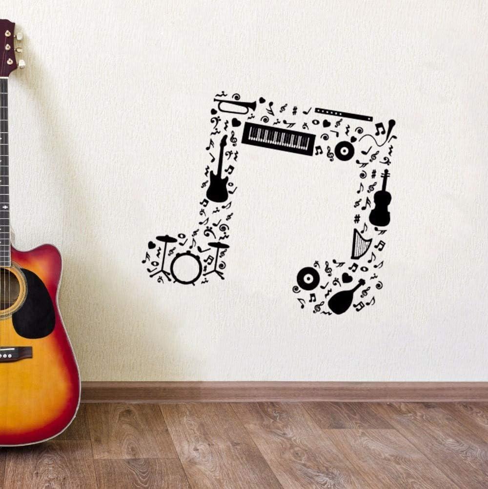 ONETOTOP Nota Musical Etiqueta de la Pared Guitarra Saxofón Flauta ...