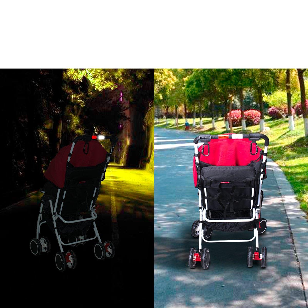 Stroller Hook Set, Pack of Handy Pram Hook Buggy Hanger Clip + Stroller Net Bag for Baby Diaper Bags Groceries Clothing Purse Stroller Accessories Kit Hangs for Jogging Walking/Shopping by fantaseal (Image #7)