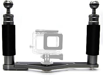 DIVTEK Dual Handheld Stabilizer Tray Handle Grip Support Extended Platform Profession for Rig Underwater Scuba Diving Dive Camera Housings//GoPro//Dome Port//Strobe