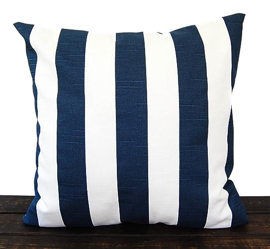 Navy Blue Stripe Canopy Pillow Cover Sham Throw pillow cover. Euro pillow case. Cotton  sc 1 st  Amazon.com & Amazon.com: Navy Blue Stripe Canopy Pillow Cover Sham Throw pillow ...