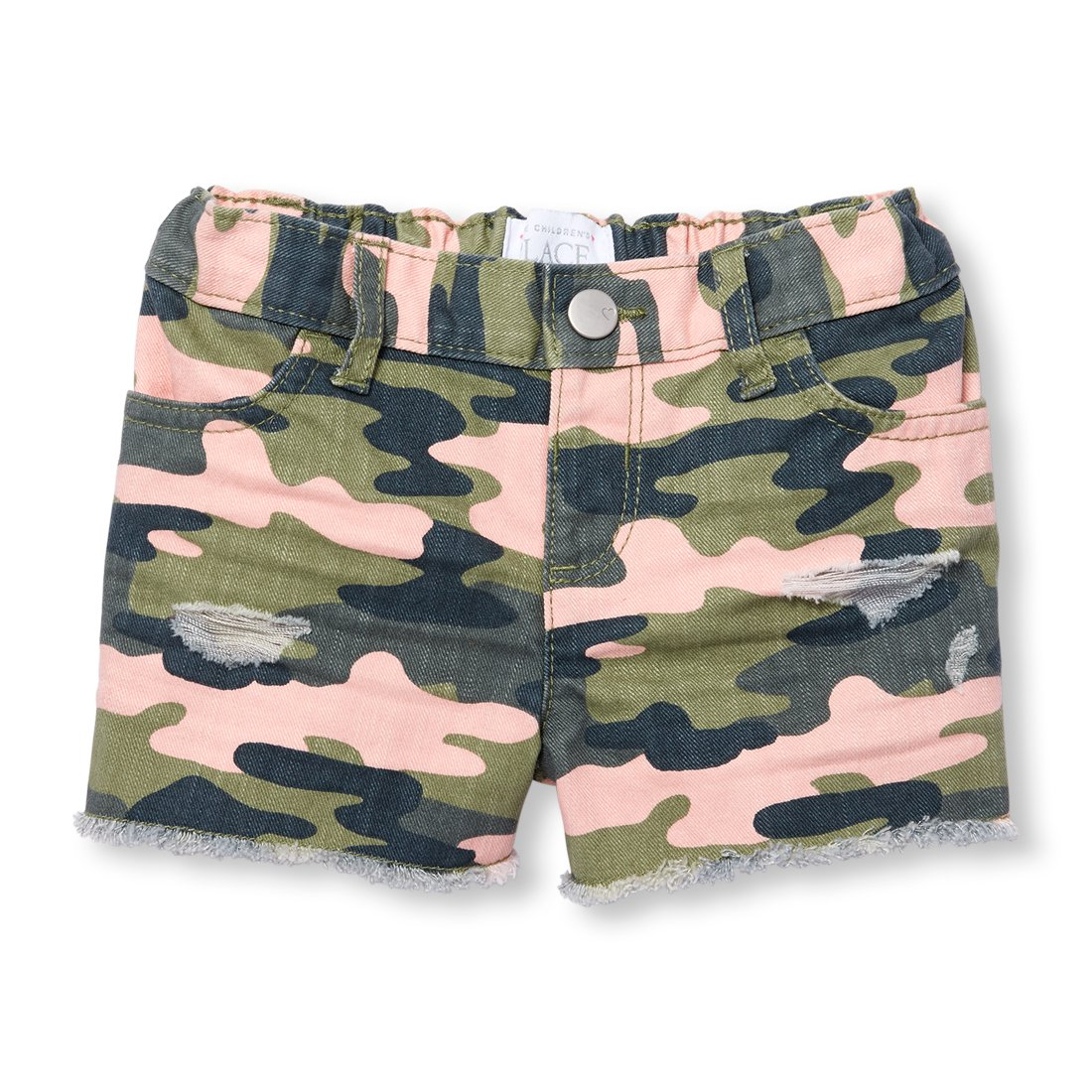 The Children's Place Baby Girls Denim Shorts, Desertpnk 09182, 2T