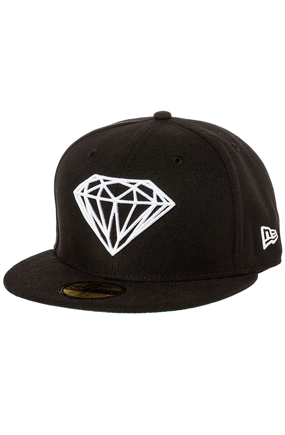 386665f33c6 Amazon.com  Diamond Supply Co. Men s Brilliant Fitted Hat 7 3 8 Black   Clothing