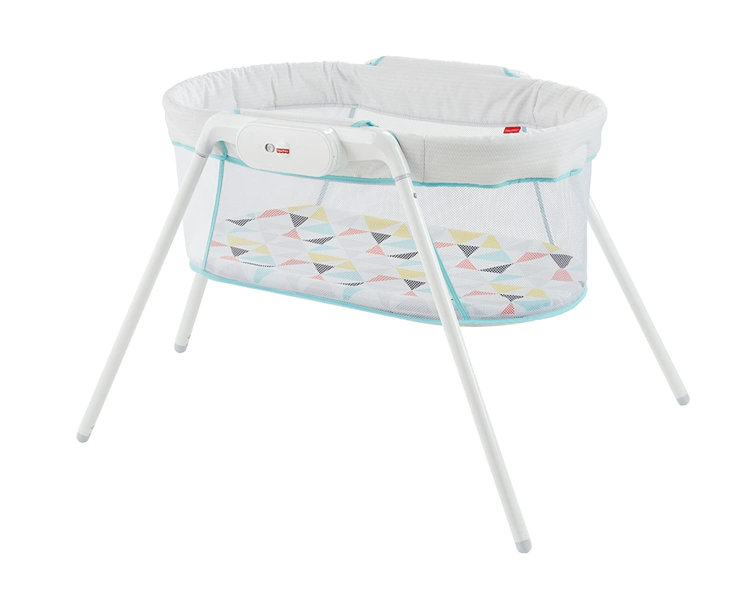 Fisher-Price GBR67 Stow and Go, Portable Bassinet with Calming Vibrations, Suitable From Birth for New-borns Mattel