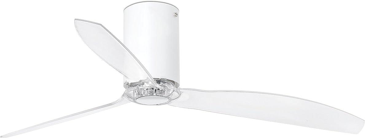 Faro Barcelona 32039 - MINI TUBE FAN Ventilador de aspas para techo, cuerpo blanco y palas transparente: Amazon.es ...
