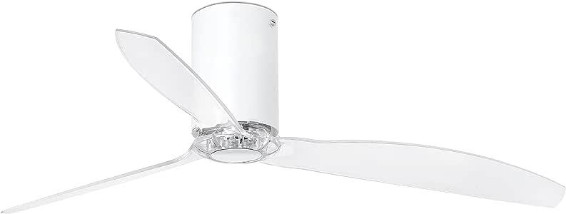 Faro Barcelona 32039 - MINI TUBE FAN Ventilador de aspas para techo, cuerpo blanco y palas transparente: Amazon.es: Bricolaje y herramientas