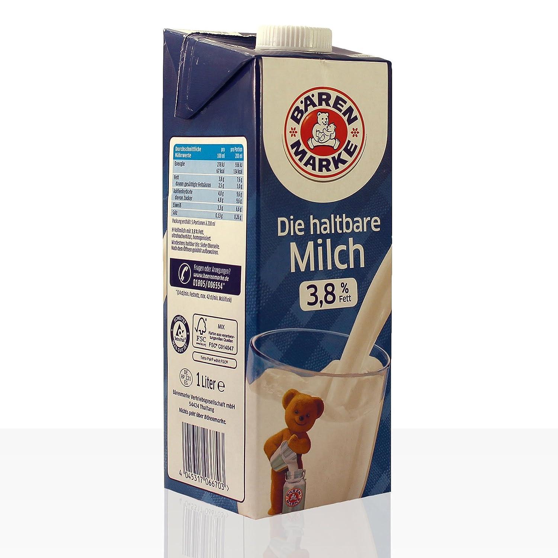 Oso Marca duraderos Alpen Leche 3,8% de grasa, 12 unidades (12 x 1 l): Amazon.es: Alimentación y bebidas