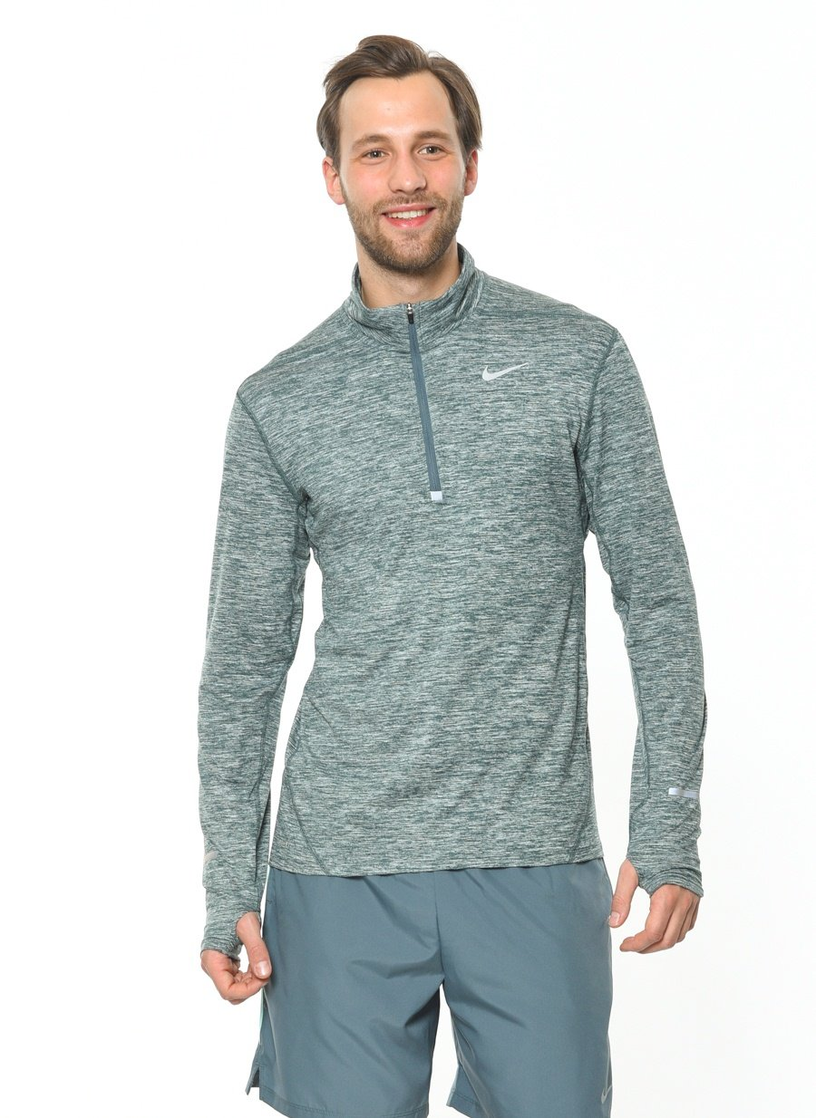 NIKE Men's Dry Element Running Top B01LZQ7MJV XX-Large|Hasta/Heather/Reflective Silver