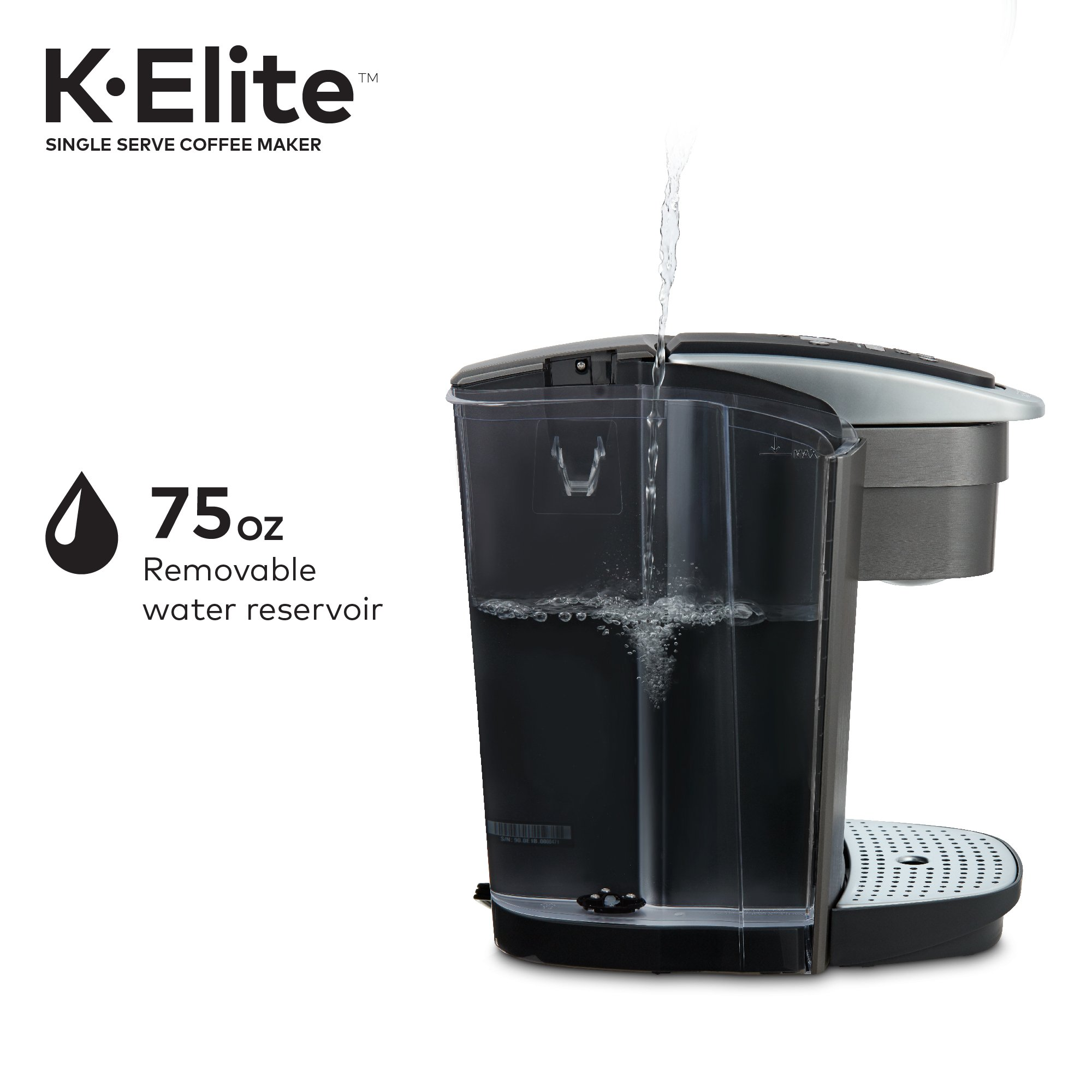 Keurig K-Elite K Single Serve K-Cup Pod Maker, with Strong Temperature Control, Iced Coffee Capability, 12oz Brew Size, Brushed Slate by Keurig (Image #13)