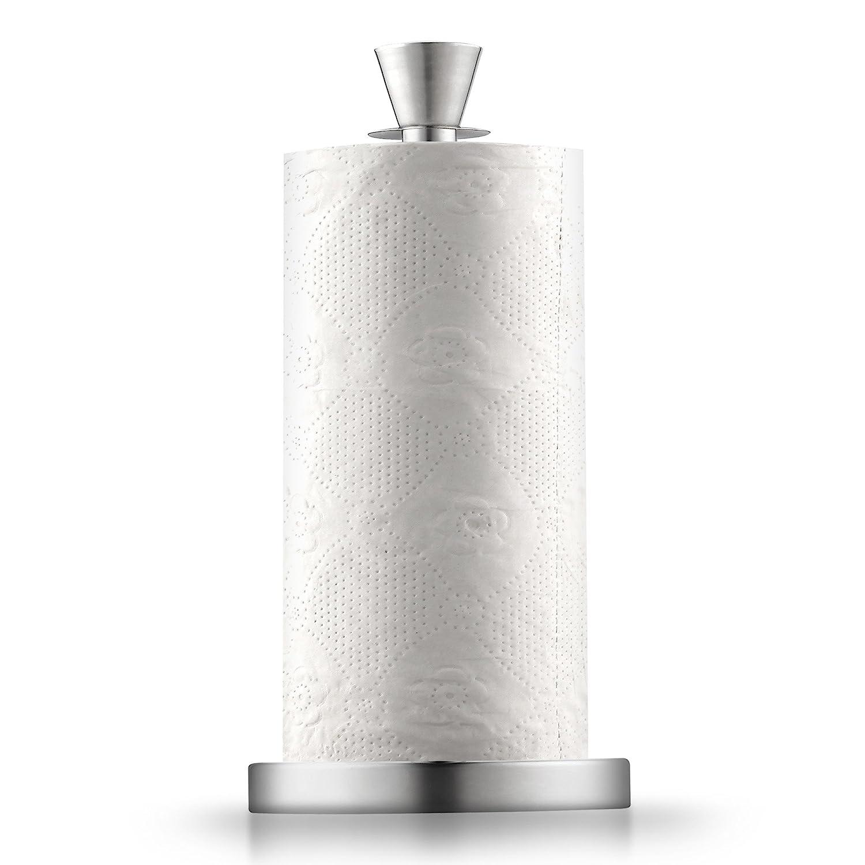 Cook N Home 02531 Stainless Steel Standing Paper Towel Holder Jumbo Silver