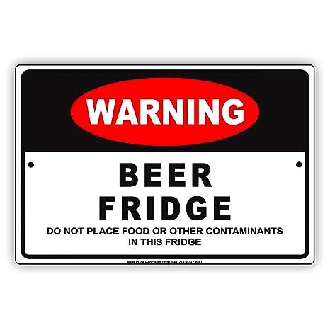 Amazon.com: Cerveza de alerta nevera, sólo no alimentos o ...