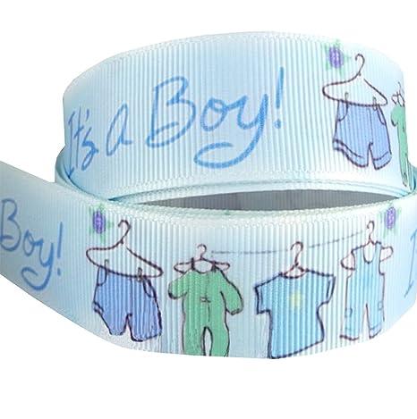 2 m x 22 mm de color azul es un niño cochecito bebé cinta para Baby Shower