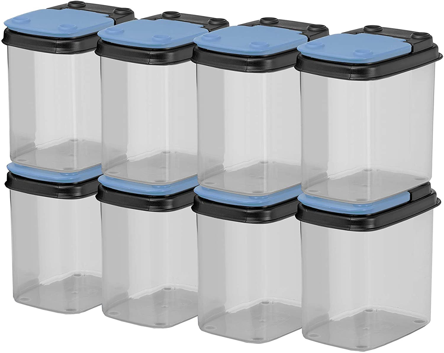 BUDDEEZ Bits and Bolts Storage Containers with Blue Lids