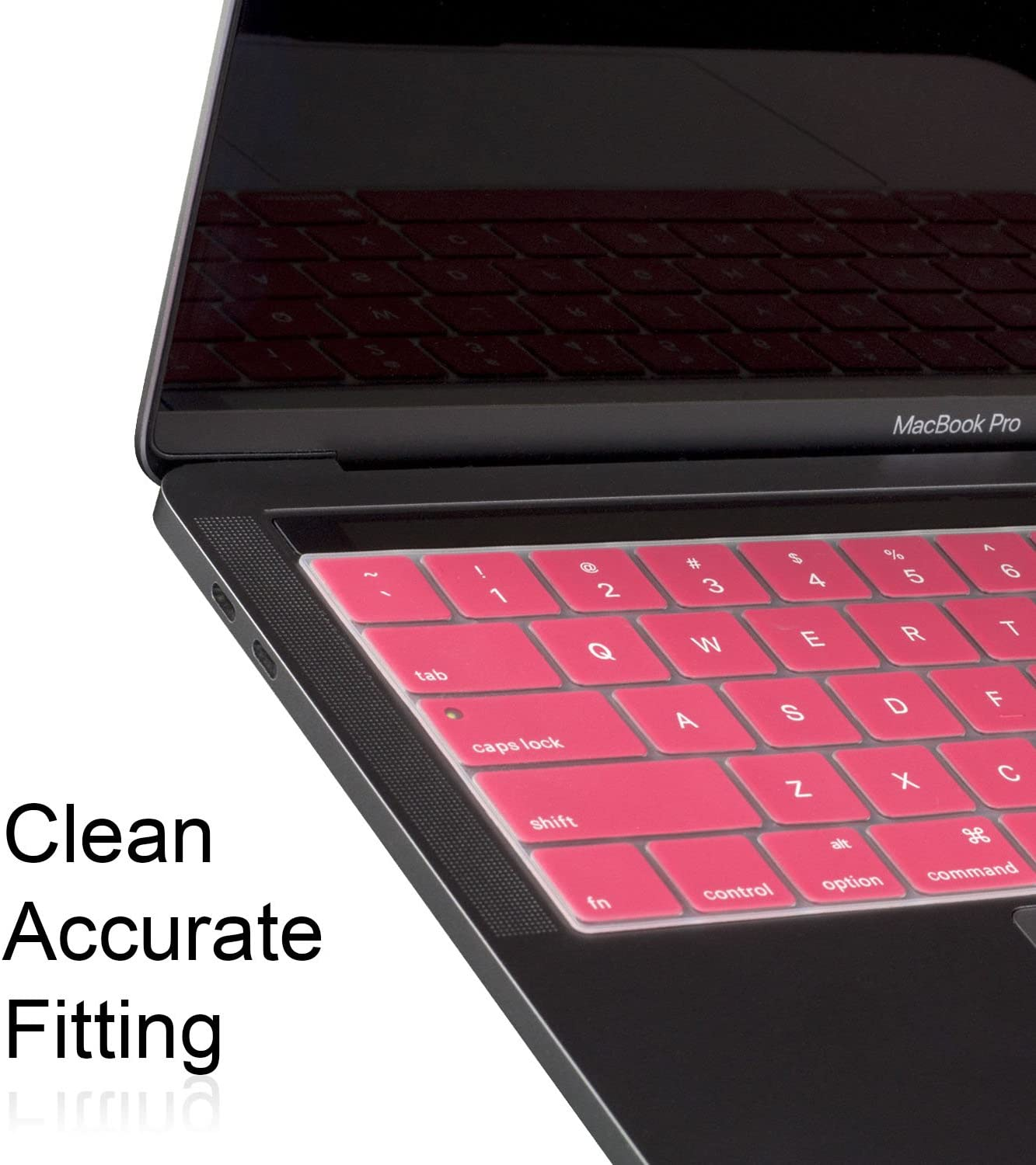 A1706 A1708 2 Pack//Hot Pink//New Ultra Thin Silicone Keyboard Cover Skin for 2016 MacBook Pro 13 GolemGuard A1707 MacBookPro 15