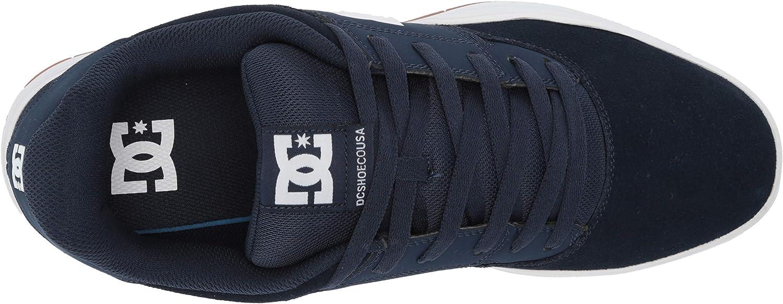 Medium DC Mens Central Skateboard Skate Shoe Grey Black Black White Black