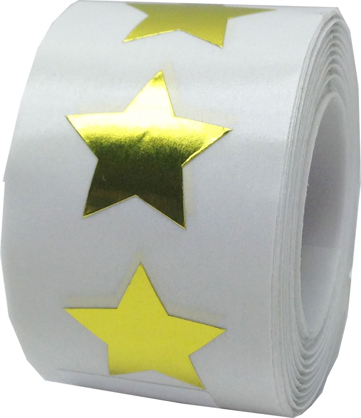 Metallic Gold Star Shape Stickers Shiny Foil Teacher Supplies 3/4 Inch 500 Adhesive Labels