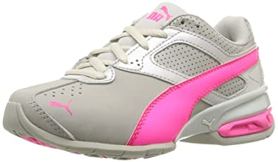 PUMA Kids' Tazon 6 SL PS Running Shoe, Gray Violet/Knockout Pink,