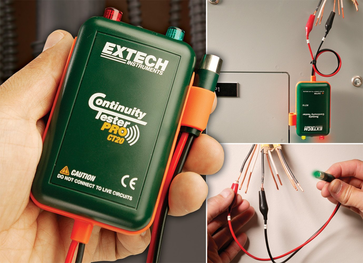 Live Circuit Tracer Extech Ct20 Remote And Local Continuity Tester Testers