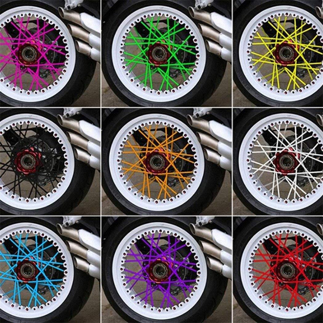 TrifyCore Motocicleta para radios de Rueda de Bicicleta Llantas Piel Protectora decoraci/ón 36 Piezas//Pack Amarillo Una Talla