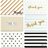 48 Thank You Cards - Retro 4x6 Greeting Cards - Blank Inside - Bulk Boxed Set with White Envelopes