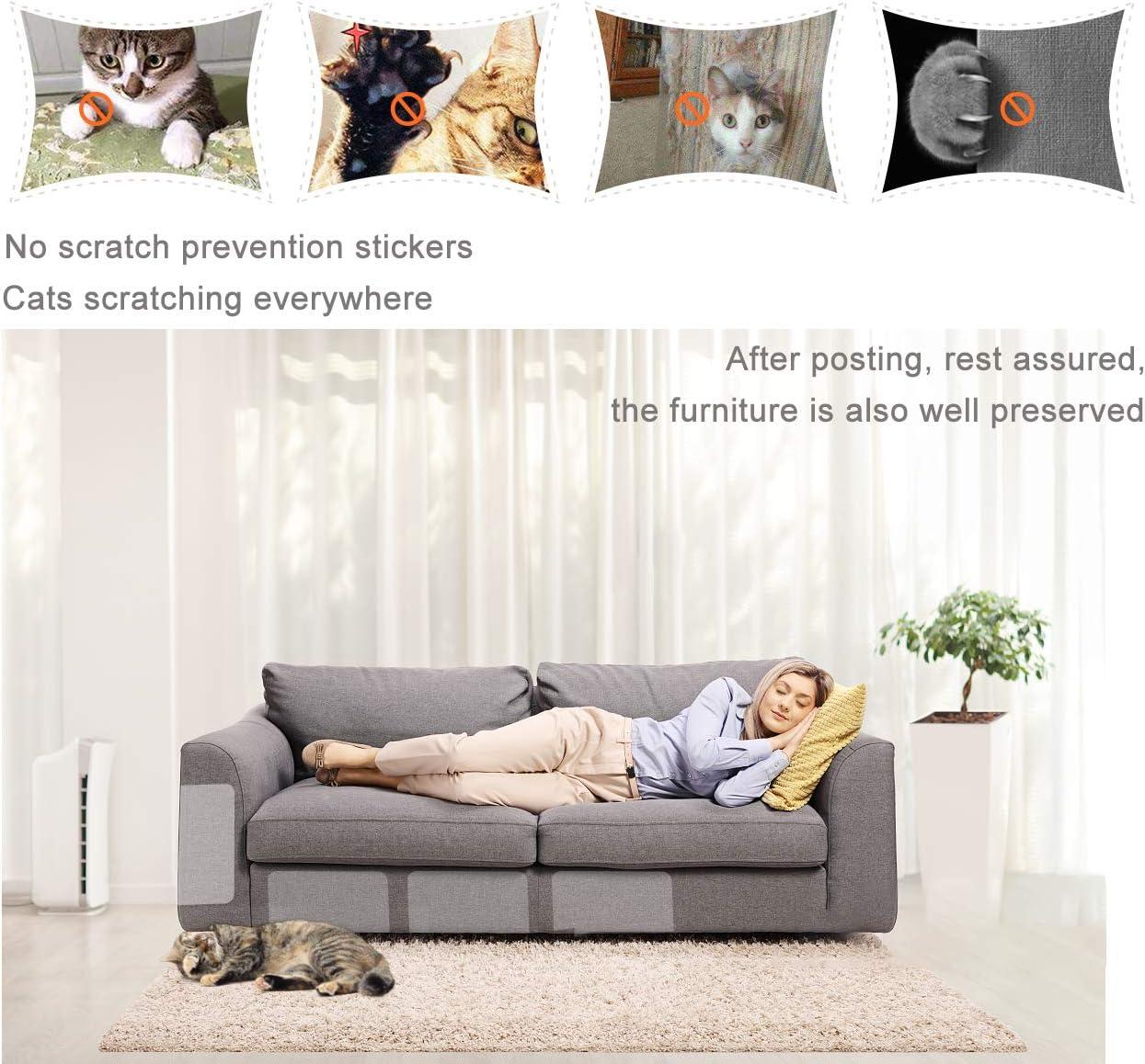 Protectores de sof/á de Mascotas Protector de ara/ñazos para Gatos con pasadores Protector de sof/á para Gatos Cinta Adhesiva de Patas de Gato para sof/á Gwolf Protectores de Muebles para Gatos