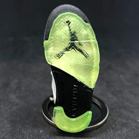 8738277c2b9b4c Amazon.com  Air Jordan V 5 Retro Quai 54 White Green Q54 OG Sneakers Shoes  3D Keychain Figure  Everything Else
