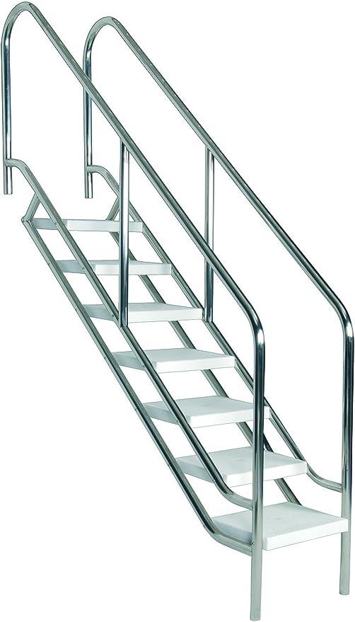 Escalera para piscina modelo ancho 500mm de 7 peldaños AstralPool: Amazon.es: Jardín