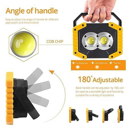Amazon.com: Led Flashlight Camping Light Usb Rechargeable ...