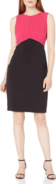Kasper Women's Max 85% OFF Sleeveless Ranking TOP6 Jewel Neck Key Sheath Hole Dress with