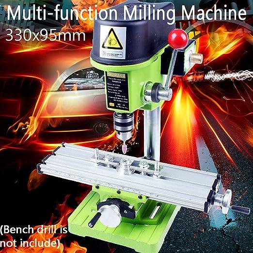 Baugger Mini Mesa Multifunci/ón Baugger Mini Fresadora Multifunci/ón de Precisi/ón Mesa de Trabajo para Accesorios de Taladro de Banco
