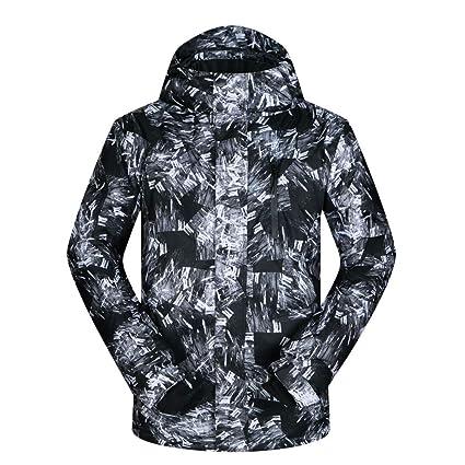 JIAKENVDE Ropa de Esqui Chaqueta de esquí para Hombre Invierno Impermeable a Prueba de Viento Abrigo