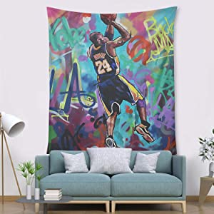 COOLGOOD LA Legend 8 24 Basketball-Player Tapestry,Wall Hanging Bedroom Decor, for Men Women Teen Girl College Dorm Room Decor Livingroom Tapestrys (I Love You-28, 51x60 inch)