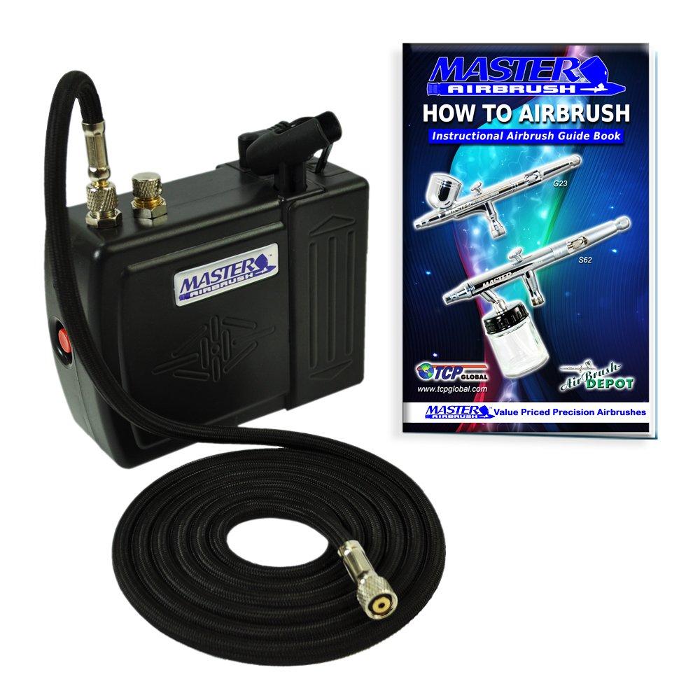 Master Airbrush Brand Compressor Model C-16-B Black Mini Airbrush Air Compre.