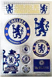 aiycome Football Club Soccer Team Emblem Sticker Waterproof Sticker for Wall, Laptop, Glass Doors, Car,etc (Chelsea, 7.5 x10.6 in)