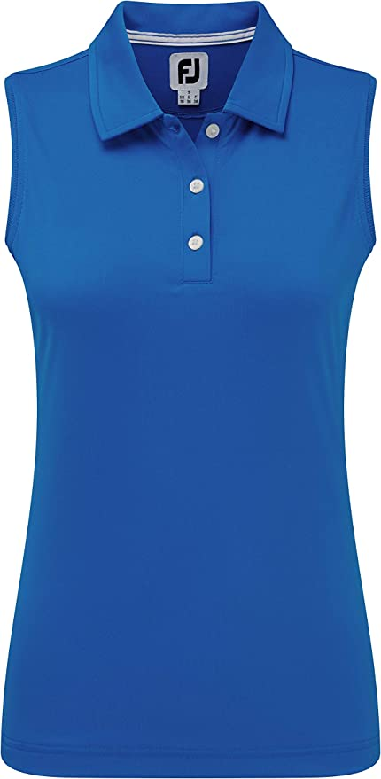 Footjoy Interlock Sleeveless Solid Shirts Polo para Mujer: Amazon ...