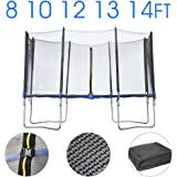 BPS 8ft 10ft 12ft 13ft 14ft replacement Trampoline safety Net OR Trampoline set Trampoline Spares Surround Enclosure