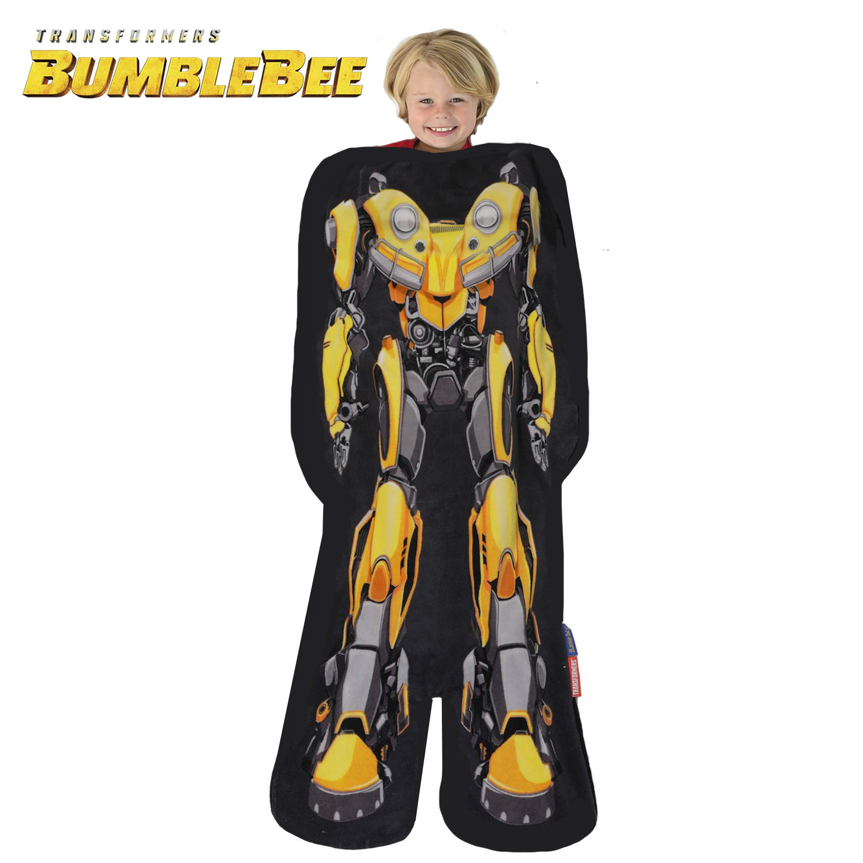 Blankie Tails Transformers Bumblebee The Movie Shaped Blanket Super Soft-Double Sided Minky Fleece Sized for Kids- Climb Inside This Cozy Wearable Blanket by Blankie Tails